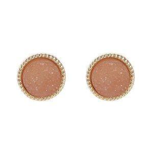 3/$20 Round Druzy Stud Earrings
